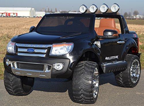 Kinderauto Elektroauto Ford Ranger Vollausstattung R/C in schwarz - Mit großem 12V/10Ah Akku 2 Motoren Original Lizenz Kinderfahrzeug