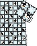 Winter Pinguin Blau Baumwolle Quilten
