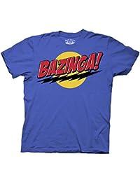 The Big Bang Theory Bazinga! Blue Adult T-shirt tee