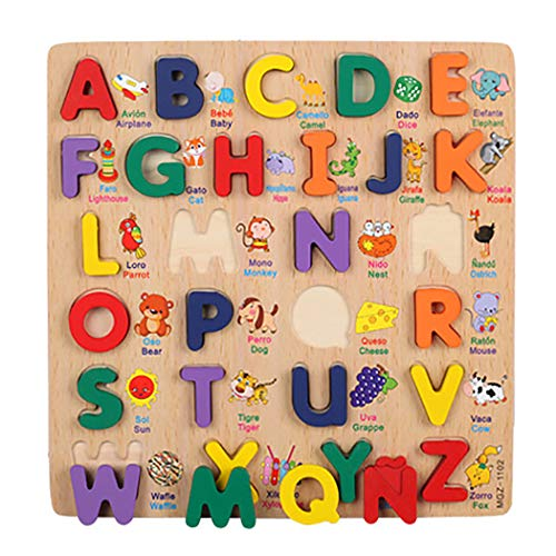 Joyibay Kids Educational Puzzle Anzahl Alphabet Holz Puzzle Board Anerkennungs Puzzle