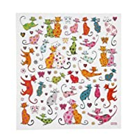 Fancy Stickers, Sheet 15x16,5 cm, Cats, 1 Sheet