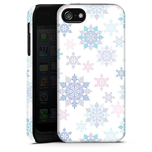 Apple iPhone X Silikon Hülle Case Schutzhülle Frost Schneeflocken Winter Tough Case matt