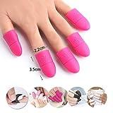 Vanyda Lot de 10capuchons en silicone pour retrait des faux ongles et vernis semi-permanents