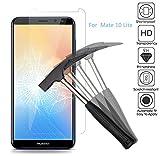 2 x Huawei Mate 10 Lite Verre Trempé Protecteur d'écran, EJBOTH Protection écran Haute Définition Cribler Des Films pour Huawei Mate 10 Lite - ultra-résistant avec une dureté 9H Anti-bulle.