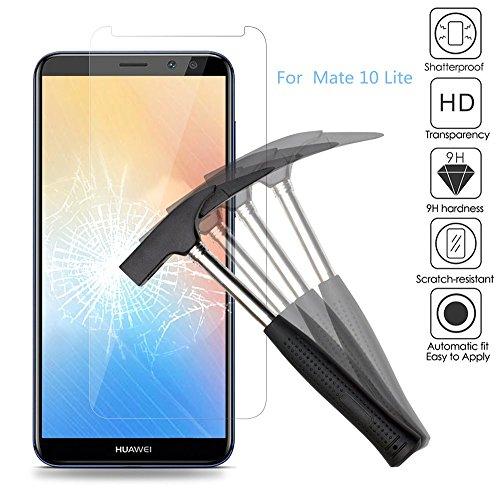 EJBOTH 2 x Huawei Mate 10 Lite Verre Trempé Protecteur d'écran, Protection écran Haute Définition Cribler des Films pour Huawei Mate 10 Lite - Ultra-résistant avec Une dureté 9H Anti-Bulle.