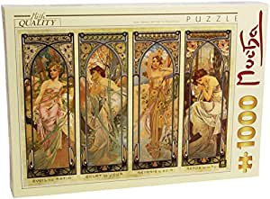 D-Toys - Alphonse MUCHA Jigsaw Puzzle 1000 - The Times of the Day (DT66930-MU-08)