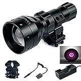 UniqueFire - Linterna con dispositivo de infrarrojos para visión nocturna - Kit de linterna de infrarrojos invisible al ojo humano - 1407IR 940Nm
