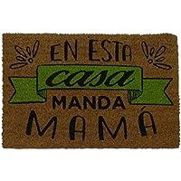 KOKODOORMATS Felpudo con Diseño Manda Mama, PVC, Coco, 60 x 40 cm