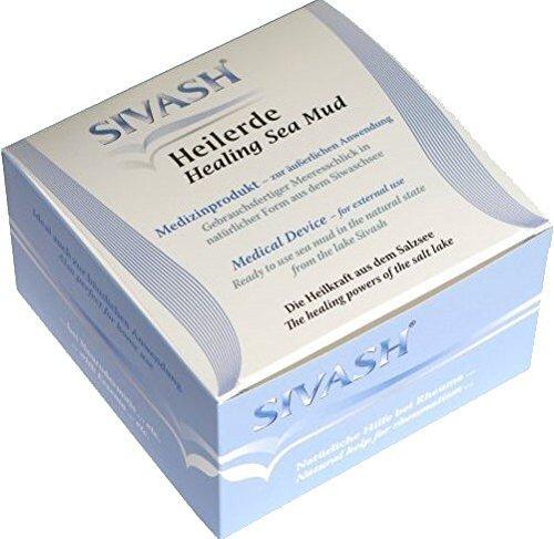 SIVASH-Heilerde Medizinprodukt für äußerliche Anwendung, gebrauchsfertig, 1kg. Für Gelenke: Rheuma, Arthrose, Arthritis, Gicht, Ganglion (Überbein); Haut: Akne, Psoriasis, Neurodermitis
