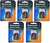 Eunicell 5X batteria alcalina da 9V 6LR61MN1604marca ware FBA