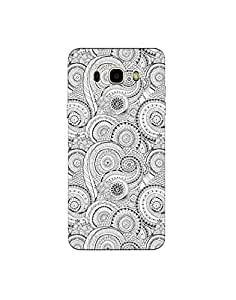 Samsung Galaxy J5(2016) Mobile Cover - Hard Case Printed Back Cover - black and white doodle theme designer cover by SkinPrints