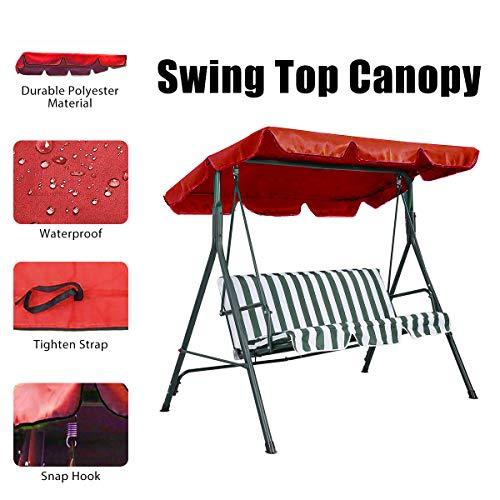 Essort Swing Top Cover, UV-Schutz Swing Top Decke, Canopy, Ersatz für Den Außenbereich, Patio...