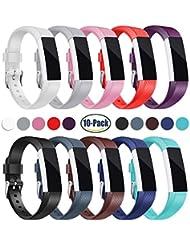 Mornex Bracelet pour Fitbit Alta et Fitbit Alta HR,Bracelet de Remplacment en TPU Silicone Réglable Sport Accessoire pour Fitbit Alta