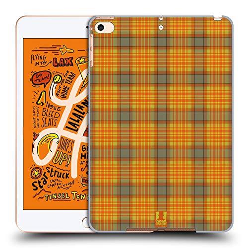 Orange Plaid-taste (Head Case Designs Grün Orange Plaid - Muster Kollektion Harte Rueckseiten Huelle kompatibel mit iPad Mini (2019))