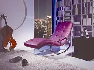 relaxliege wippliege ella lederimitat lila. Black Bedroom Furniture Sets. Home Design Ideas