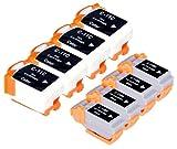8 Multipack XL Canon BCI-11 Patronen Kompatible. 4 schwarz, 4 color für Canon BJ-30, BJ-35, BJ-35V, BJC-35, BJC-50, BJC-55, BJC-70, BJC-80, BJC-85, BJC-85W, LR1 Print Station, Notejet IIIcx, Apple Color Stylewriter 2200. Tintenpatrone. Tinten kompatible Druckerpatronen. BCI-11-BK , BCI-11-C © Patronenland