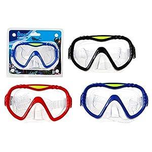 Atosa 25561-Gafas de Buceo para Adultos, Color Negro/Rojo/Azul