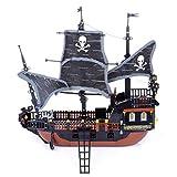 Seciie 3D Puzzle Piratenschiff Modellbausatz, Modellschiff und Boot Dekorationsgeschenk für Erwachsene und Kinder, 652 Teile