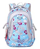 SellerFun® Kid Child Girl Flower Printed Waterproof Backpack School Bag(Blue,Small)