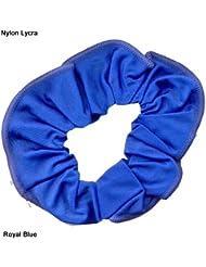 En Nylon/Lycra brillant CHEVEUX CHOUCHOU (Bleu roi)