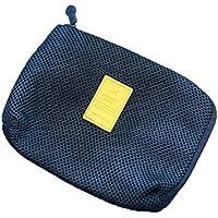 fablcrew neceser Pur laápiz de color cierre de cremallera gran capacidad cosmética bolsa para los écolières o las mujeres de escritorio, color azul 16*12.5*3cm