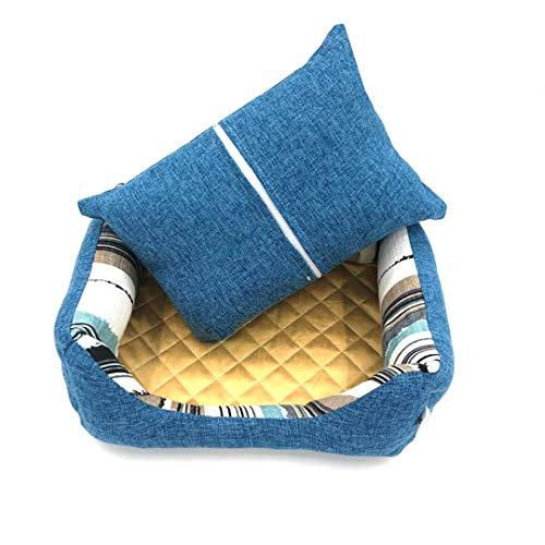 Tiefen-reinigung-waschmittel (Goldina Haustierbett Matte Selbstbaumwolle Sofa für Hunde und Katzen waschbar Abnehmbare weiche Hundezimmerpolsterung Wärmende Betten für Kitty)