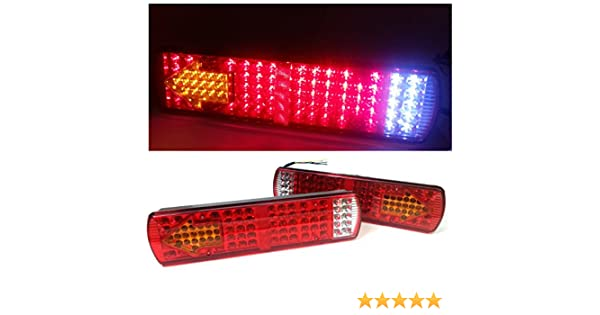 2/X Paio Di 12/V 84/LED LED Multifunzione Stop Reverse Indicatore Lampeggiante Nebbia Fanale Posteriore Luci Lampade Per Camion Rimorchio Camion Ribaltabile Shassis Caravan Roulotte Camper
