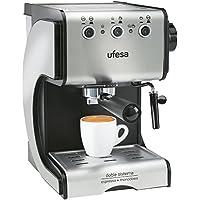 Ufesa Cafetera expreso Duetto Creme CE7141, 500 W, Acero Inoxidable, Gris