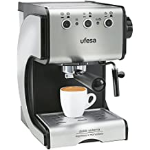 Ufesa Cafetera expreso Duetto Creme CE7141, 500 W, Acero Inoxidable, Gris