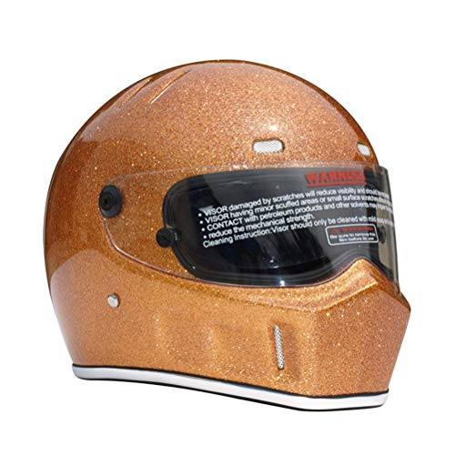 Adulti Professional Full Face Caschi Moto Abs Materiale Kart Auto Sicurezza Casco Anti Caduta a prova di shock Racing Riding Motocross Testa Casco Flash Oro