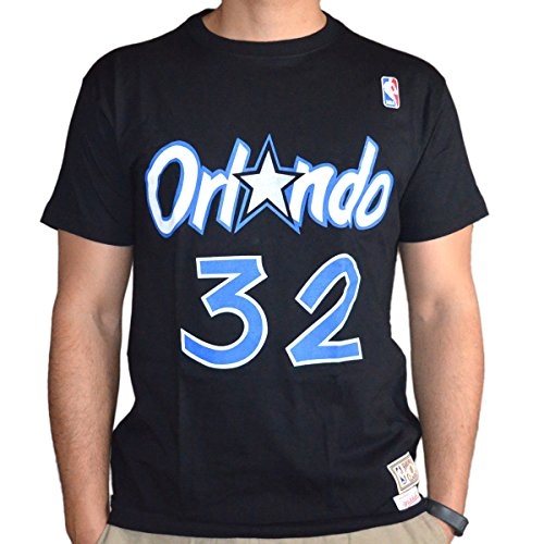 Mitchell & Ness Shaq O'NEAL # 32Orlando Magic Nom & Number NBA Thé Noir