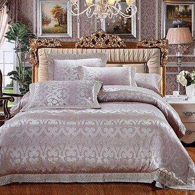 AIURLIFE Jacquard 4 pieza Suite nupcial m 1,5-1,8 m/2.0 m cama lecho , king