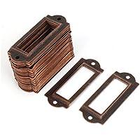 sourcingmap® Etiqueta de archivo cajón Nombre Etiqueta tarjeta del sostenedor de tono de cobre 50pcs
