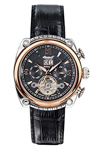 Ingersoll IN6907RBK–Watch For Men, Leather Strap Black