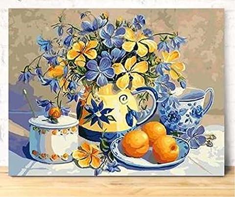 Obella Peinture par numéros Kits issu de la gamme Fleurs et fruits Peinture issu de la gamme 50x 40cm Peinture par numéros numériques, peinture à l'huile, sans cadre