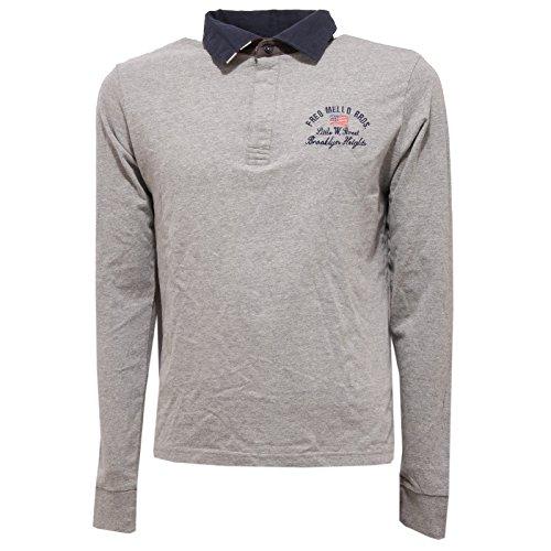 3294R polo uomo FRED MELLO a manica lunga grigio t-shirt men [S]