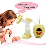 Electric Breast Pump LCD Display 9-Grade Adjustment Breastpump Natural Comfort Breast Pump with BPA-Free, Good And Safe For Moms And Babies Excellent Breastfeeding Tool
