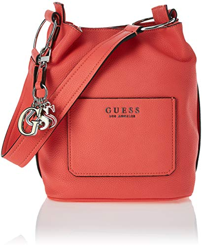 6bf7c79198f4 Guess - Sally, Shoppers y bolsos de hombro Mujer, Rosa (Coral/Cor