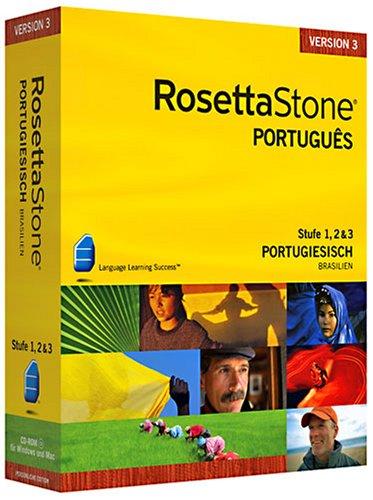 Rosetta Stone v3 Portugiesisch Level 1&2&3 Set