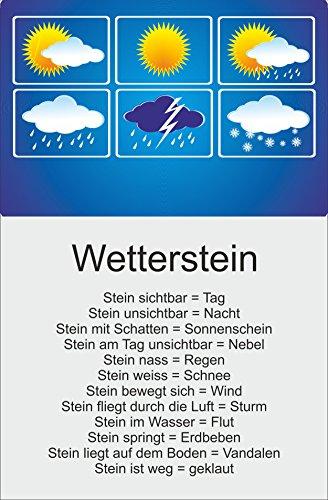 Melis Folienwerkstatt Schild - Wetter-Stein Wetter-Station - 30x20cm   Bohrlöcher   3mm Aluverbund - S00352-001 20 VAR