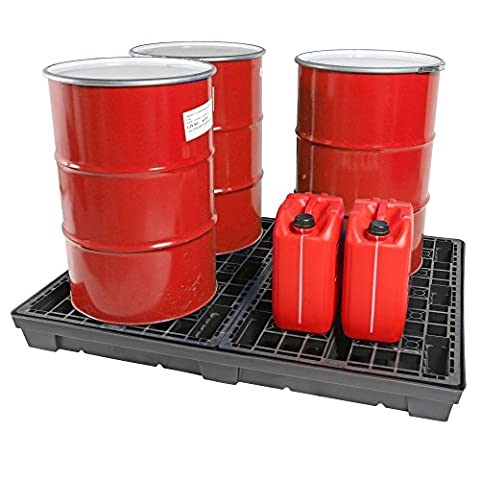 4 Drum Recycled Spill Pallet 250 Litres Sump Capacity