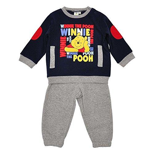 Baby-Jungen Sportanzug, Disney Baby Hose Sweatshirt Sportanzug, Blau Grau, in Größe 62/68