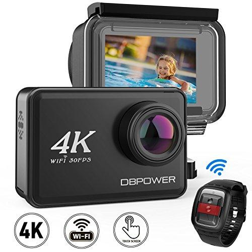 IceFox 4K EIS Action Kamera 2″ LCD Touchscreen 14 Megapixel WLAN Wasserdichte Sport Kamera mit 4K 30fps Video und 170째 Weitwinkelobjektiv 2