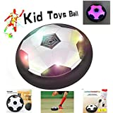 FJBMW  Kids Air Power Soccer Football Size Boys Girls Sport Children Toys Training Football Indoor Outdoor Disk Hover Ball Game with Foam Bumpers and Light Up LED Lights Colour vary