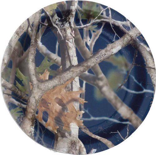 CAMO COLORZ Navy Dessert Plates by Havercamp -