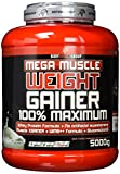 BWG Mega Muscle Weight Gainer 100% Maximum, Muscle Line, Mega Cookies und Cream, Dose mit Dosierlöffel, 1er Pack (1 x 5000g)