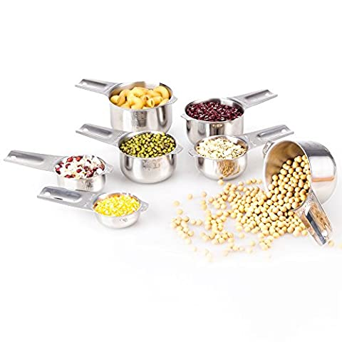 1Easylife 18/8 Measuring Cups Set Stainless Steel Kitchen Cups Baking