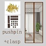 Magnetische Full-Frame-Klett-Bildschirm Tür, Mesh Vorhänge Partition Wind Mosquito für Schlafzimmer Residential Patio Transparent-K 170x220cm (67x887 Zoll) (Farbe : F, Größe : 85x210cm(33x83inch))
