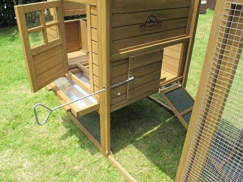 Pets Imperial® Blenheim Hühnerstall mit extra langen Auslaufflächen 8ft/2,5m und Maschendrahtabdeckung geeignet für 4/6 Vögel je nach Größe - 6