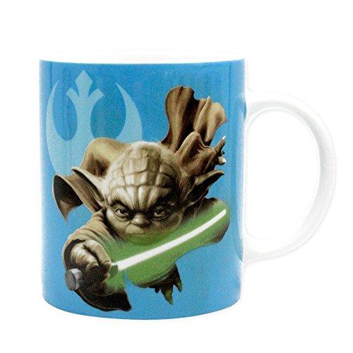 ABYstyle ABYMUG170 Tasse Star Wars Yoda & R2D2, 320 ml